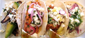 Mmmm... two tacos by Mas Kaos included in the ticket price.